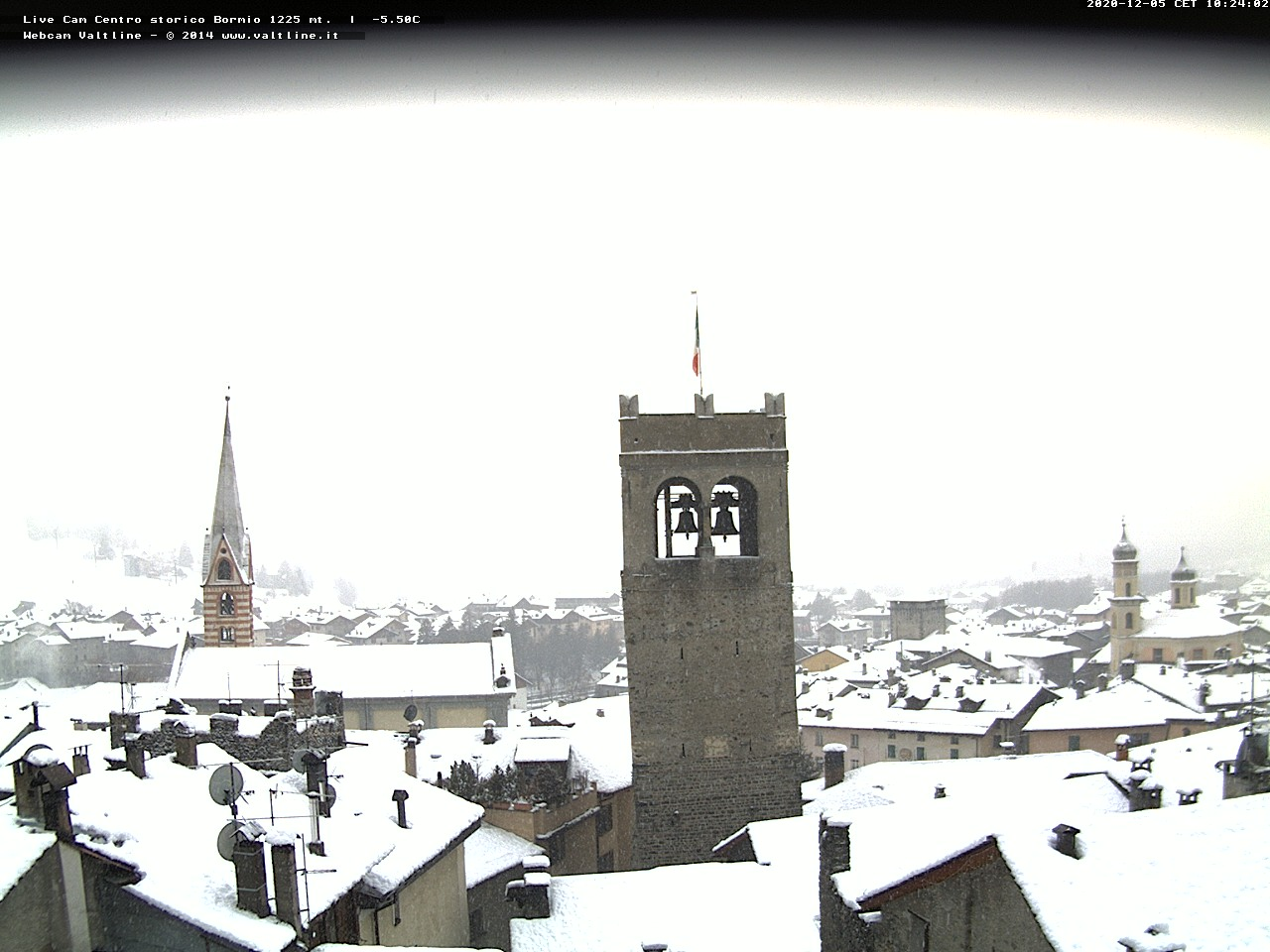 Webcam panoramica sul centro abitato di Bormio