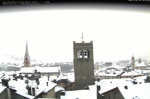 Webcam panoramica sul centro storico di Bormio
