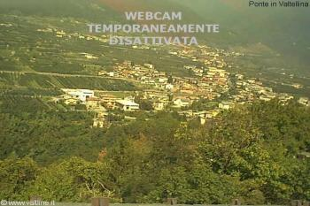 Webcam PONTE in VALTELLINA<br>live webcam Ponte Valtellina